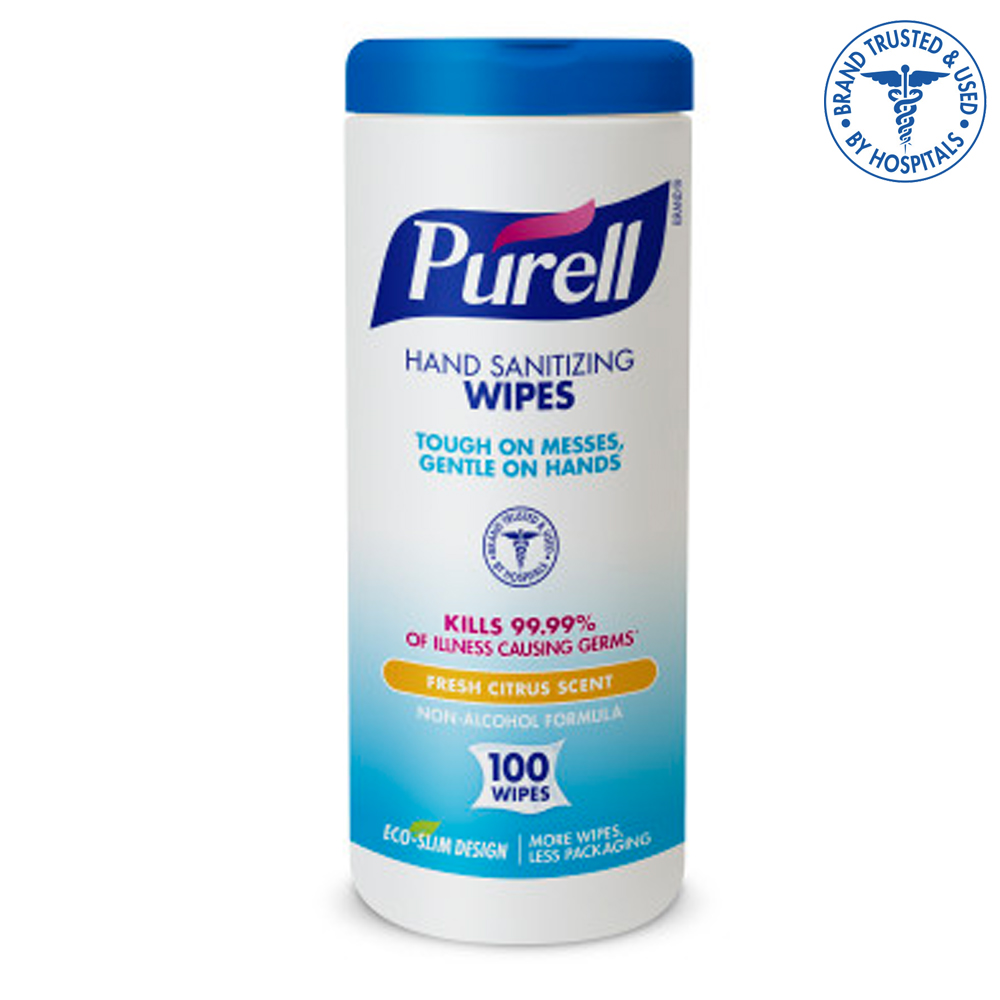 Gojo Ind. - Purell 100 Count Hand Sanitizing Wipes 9111-12