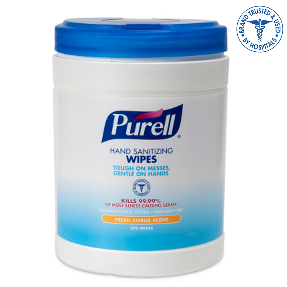 Gojo Ind. - Purell Sanitizing Wipes 270 Sheet Canister 9113-06