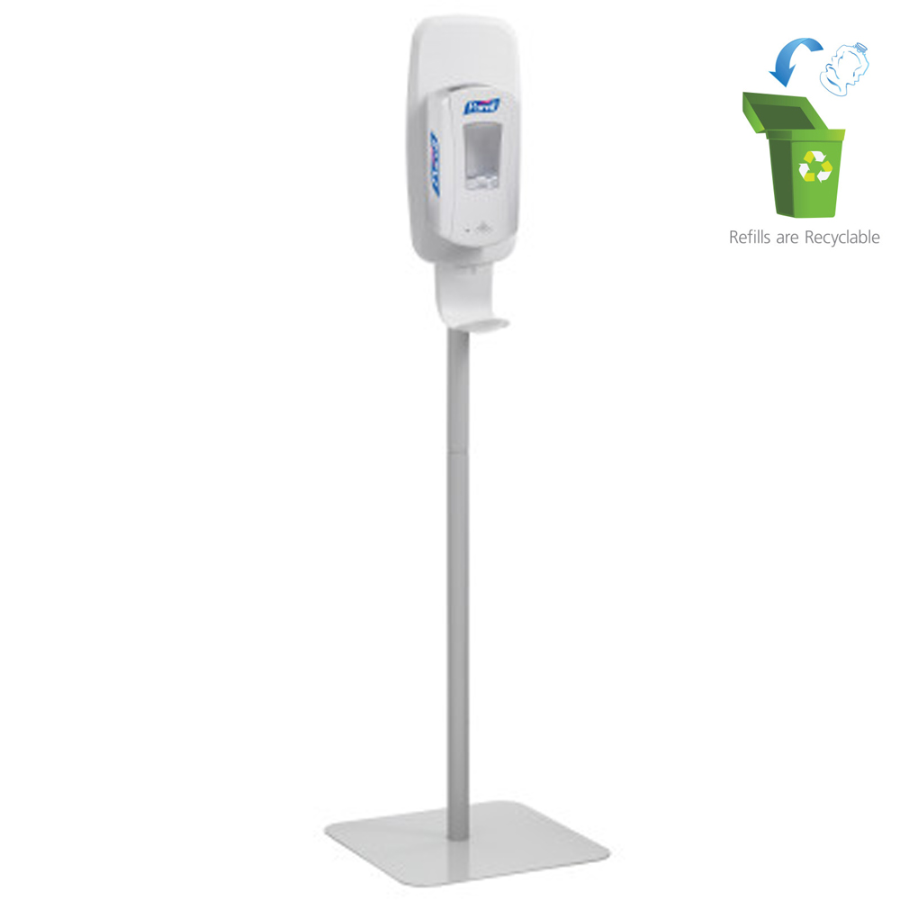 Gojo White Purell Touch Free Floor Stand 2424-DS