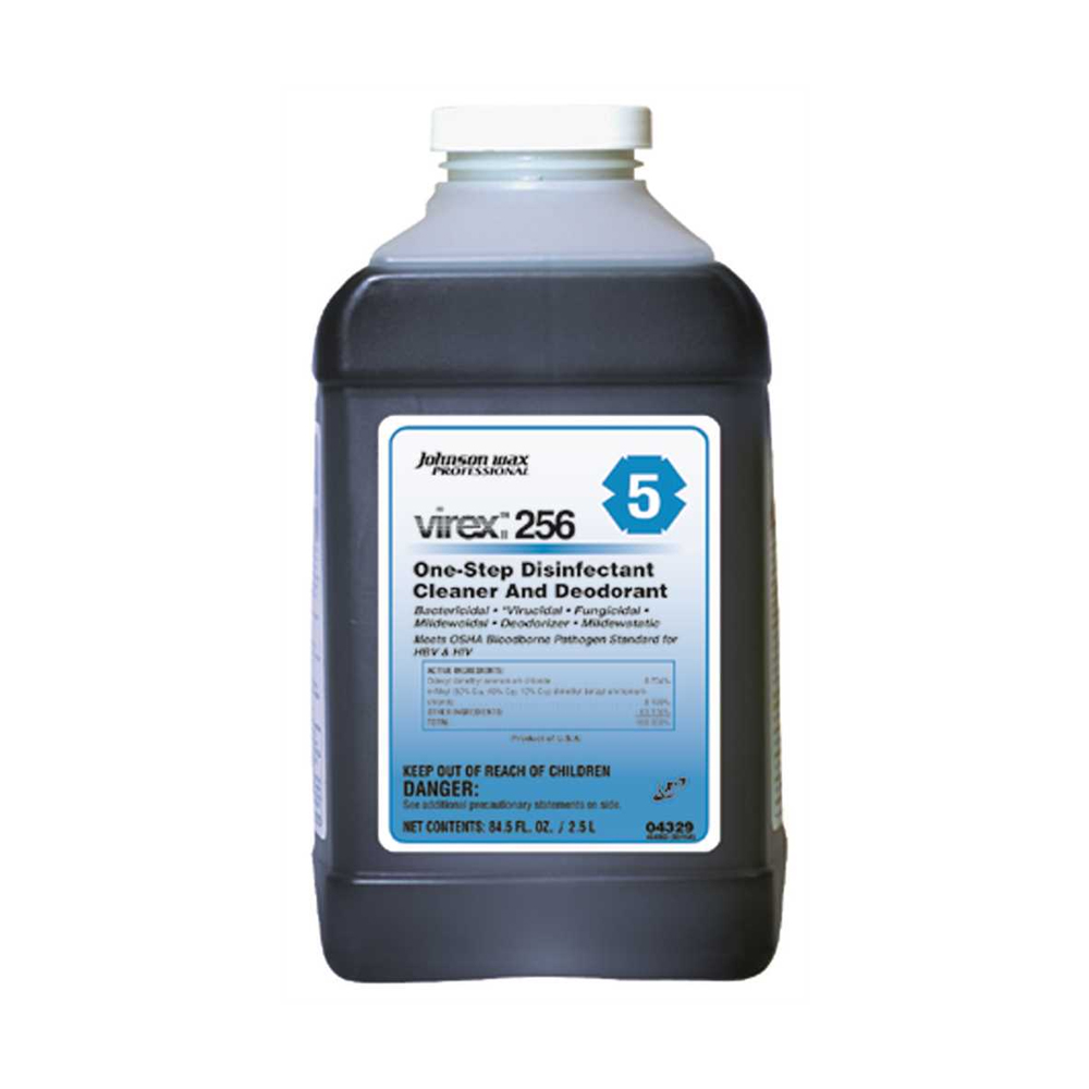 2.5 Liter Virex 256 One Stop Disinfectant Cleaner and Deodorant Germ Killer 04329