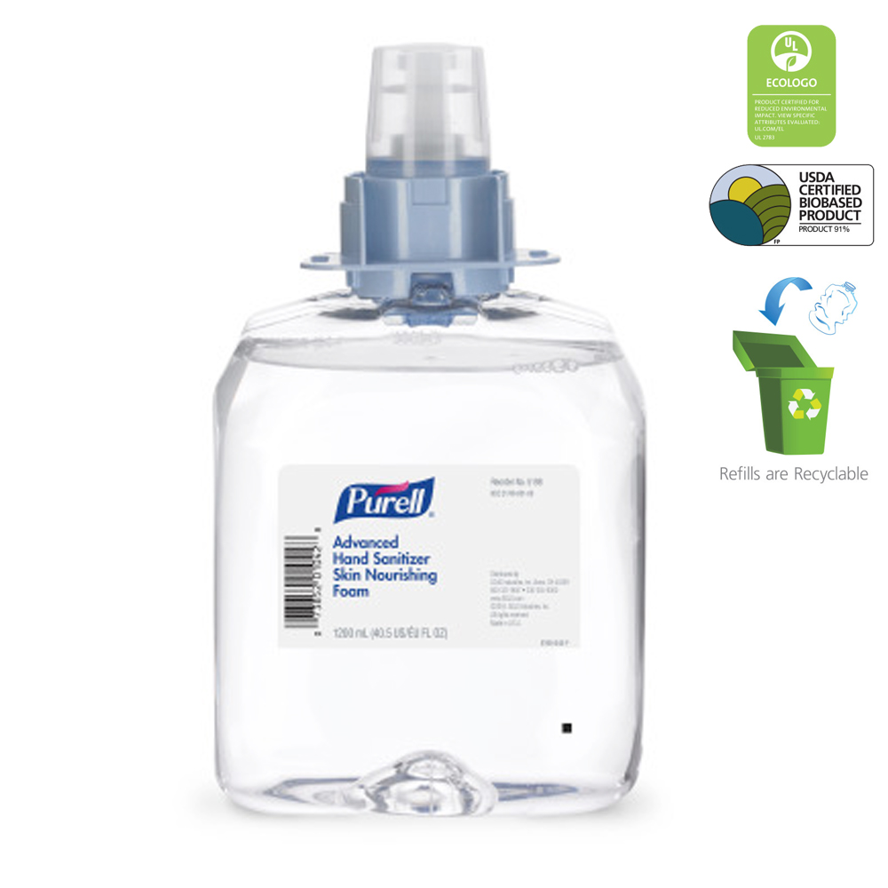 Gojo Clear 1200ml Hand Sanitizer Skin Nourishing Foam Refill 5198-03