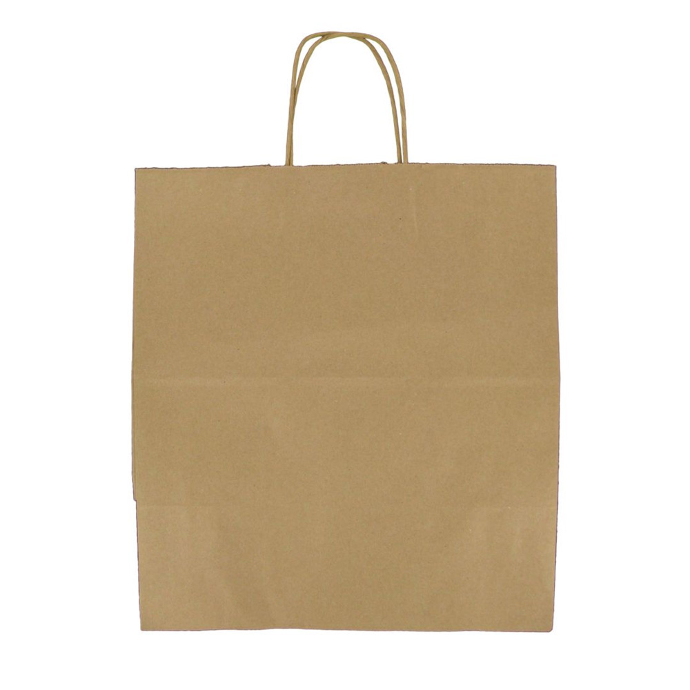 "Duro Bag Mfg. - Kraft 14""x10x15-3/4"" Paper Super  Royal Shopping Bag 387145"
