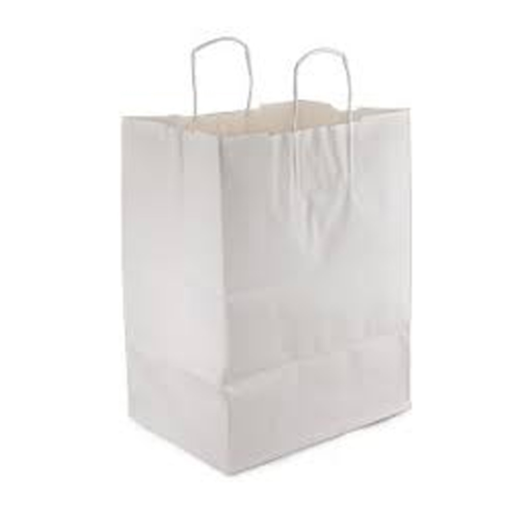 "Duro Bag White 12""x9""x15"" Regal Paper Shopping Bag87904"