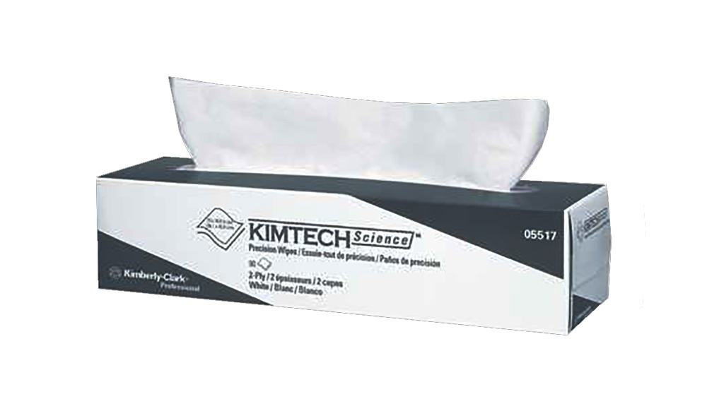 "Kimberly Clark White 14.7""x16.6"" Kimtech Anti-static 2ply Precision Tissue Wipes 05517"