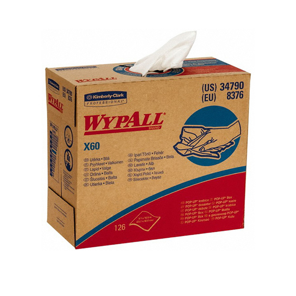 Kimberly Clark White X60 Wypall Wipers 34790