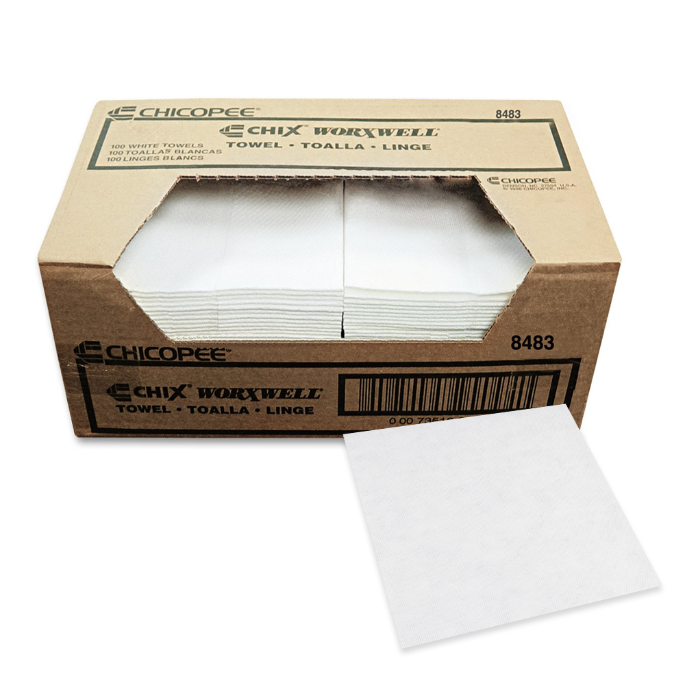 "Chicopee - Worxwell White 13""x15"" Heavy Duty Towel8483"