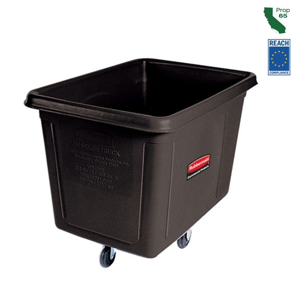 Rubbermaid Commercial - Black 12 Cubit Ft. Cube Truck (400 lb.) FG461200BLA