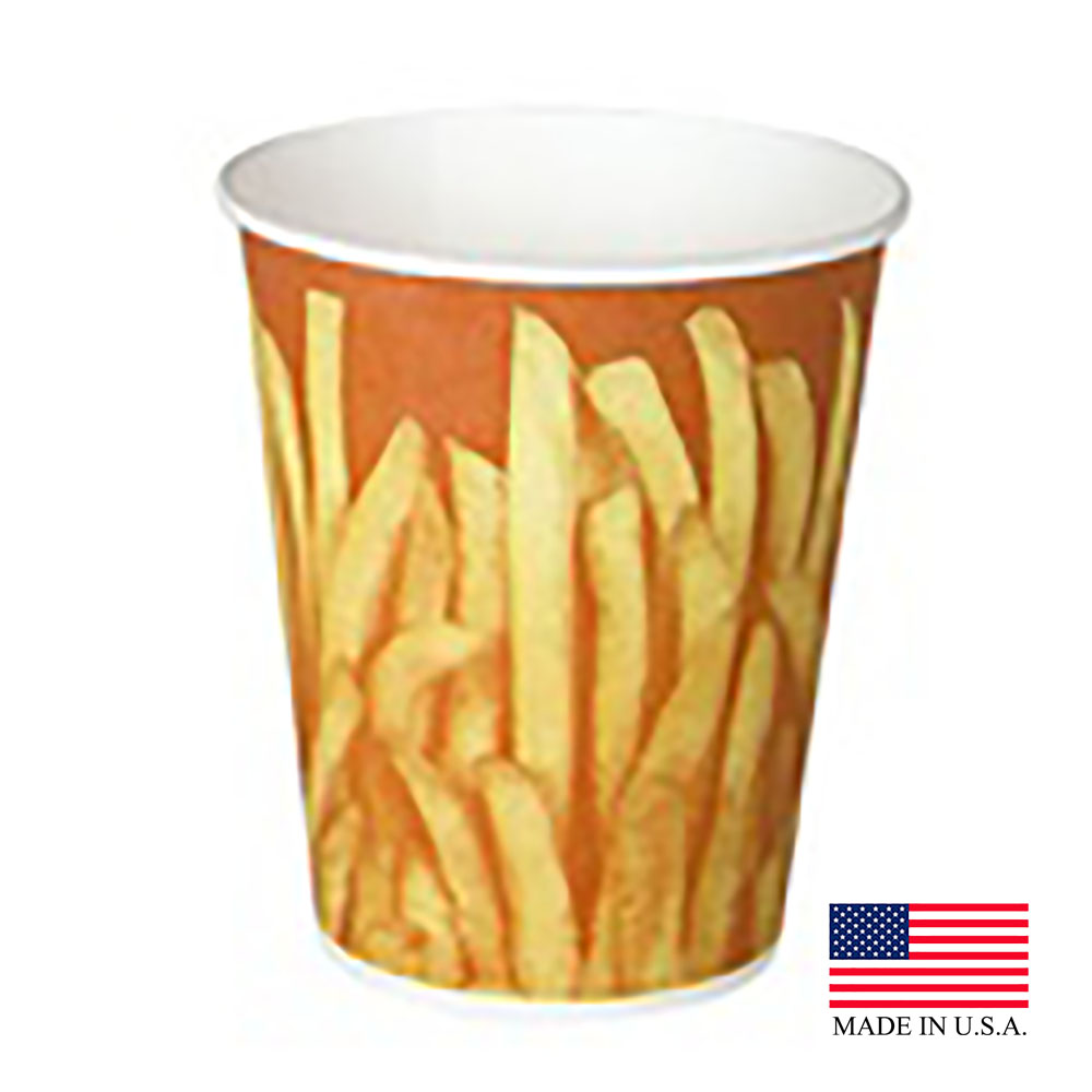 Solo 16oz Grease Resistant Great Fries Paper French Fry Cup GRS16-00021
