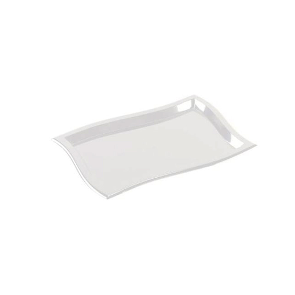"EMI Yoshi Inc. - Waves Clear 10""x14"" Rectangular Plastic Tray EMI-WT1014C"