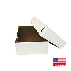"Die Cut Prod. - White 12""x12""x6"" 2 pc White Top Corrugated Square Cake Box 12x12x6"