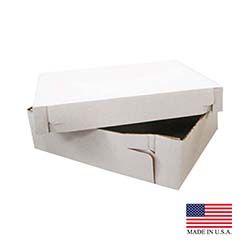 "Die Cut Prod White 14""x14""x6"" Corrugated Cake Box 2PB14146"