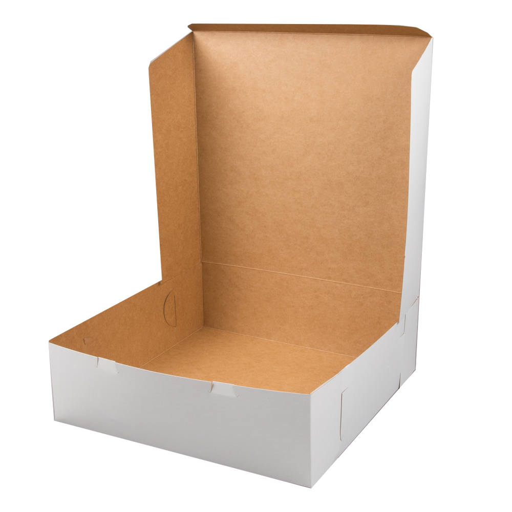 "White 16""x16""x5"" 1pc Cake Box 165B/CB16165"