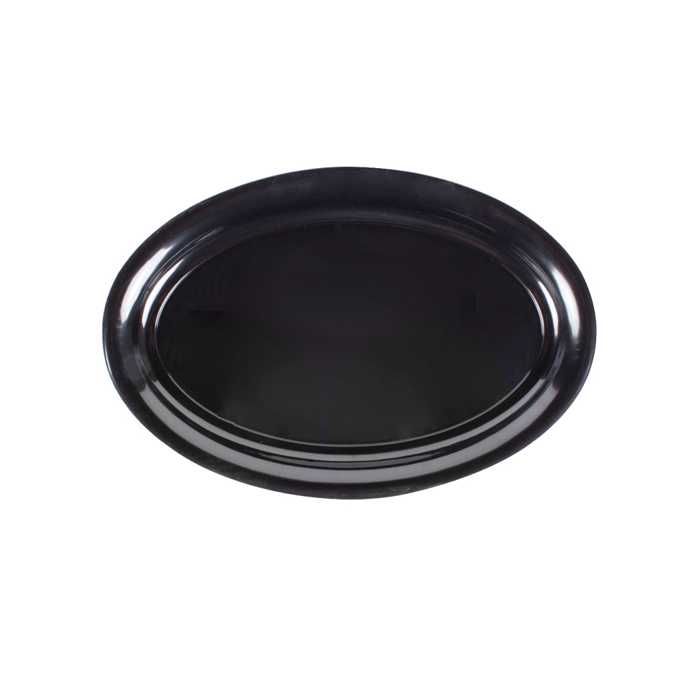 "Comet Black 21""x14"" Oval Catering Tray AV2114BL"