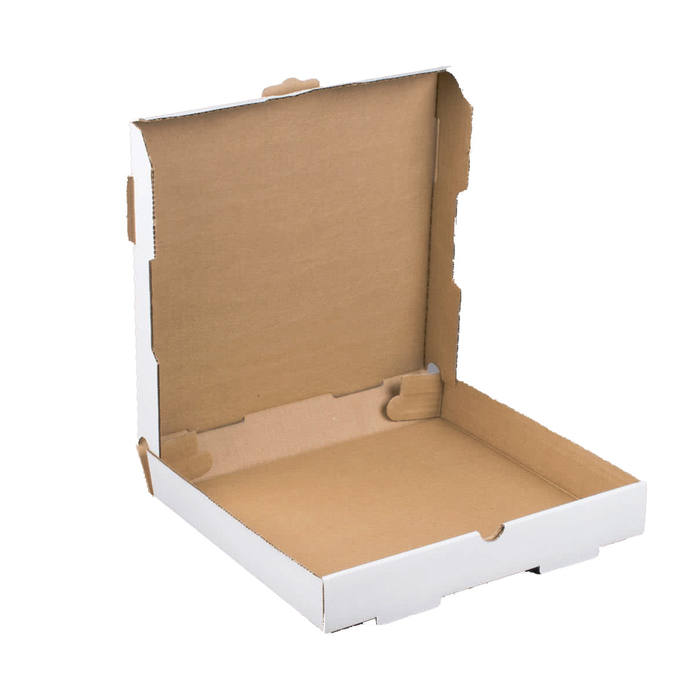 "Die Cut Prod. - White 12""x12"" Plain Corrugated Square Pizza Box PIZ12"