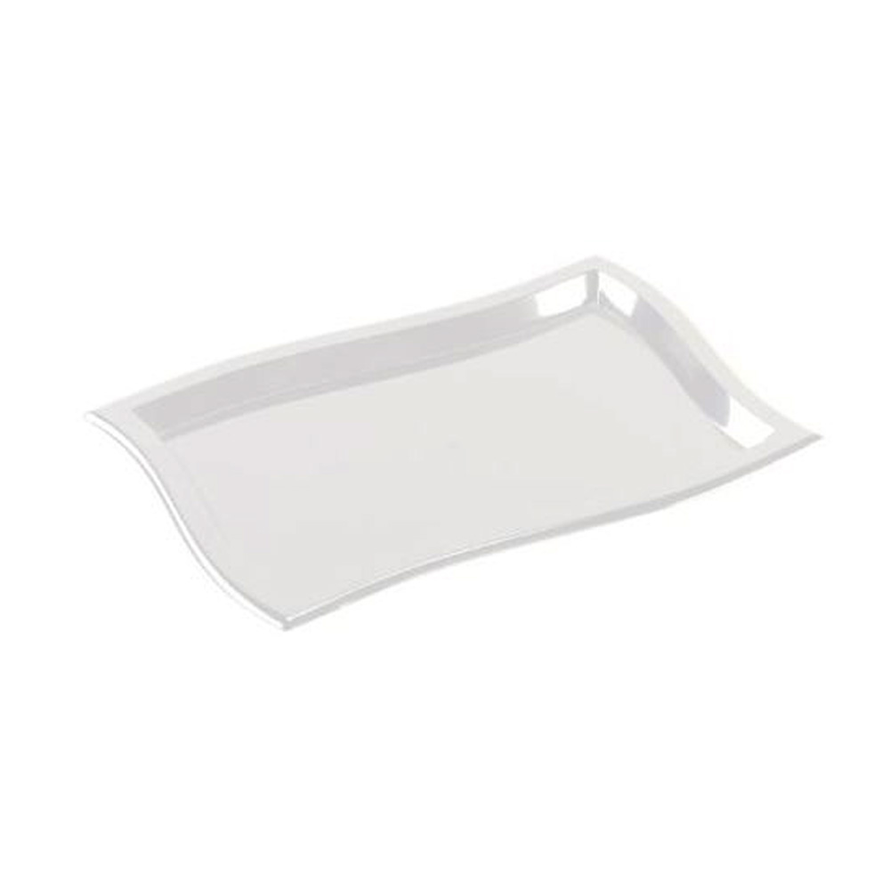 "EMI Yoshi Inc. - Waves Clear 12""x18"" Rectangular Plastic Tray EMI-WT1218C"