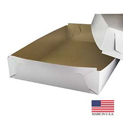 "Die Cut Prod White 28""x18""x5"" Corrugated Cake Box 2PB28185"