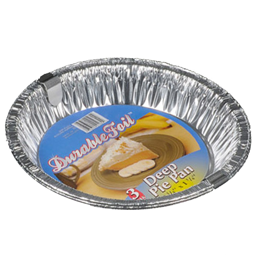 "Durable Aluminum 10"" Deep Pie Pan D23030"