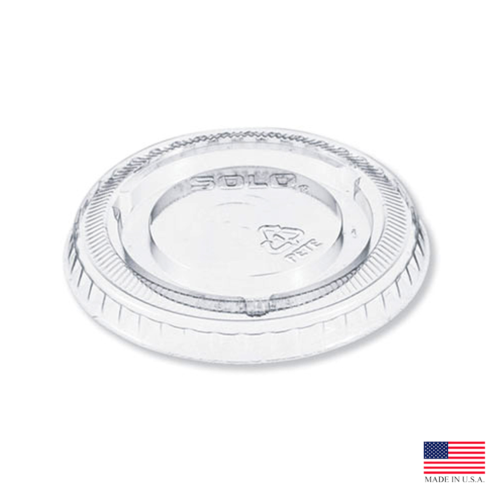 Dart - Clear 5 oz. Non Vented Plastic PET Lid for Y5 Cup 605TP