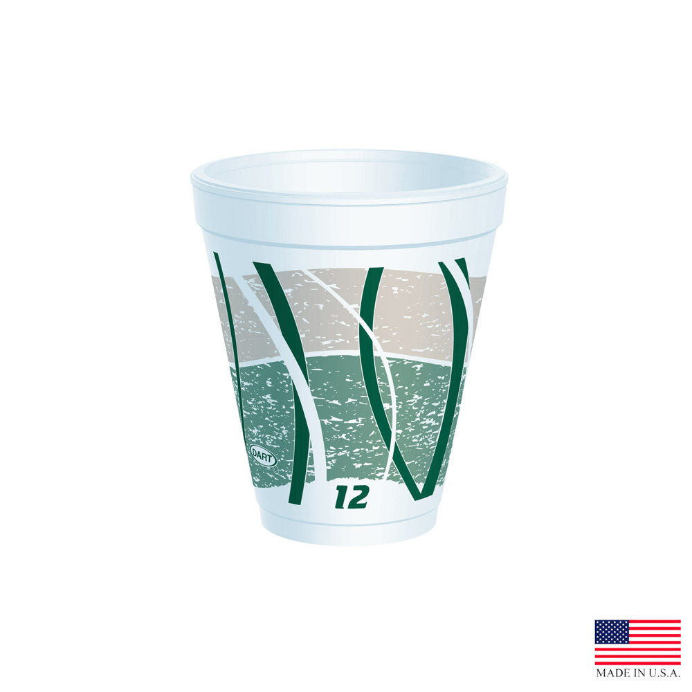 Dart 12oz Green Foam Impulse Cup 12J16E