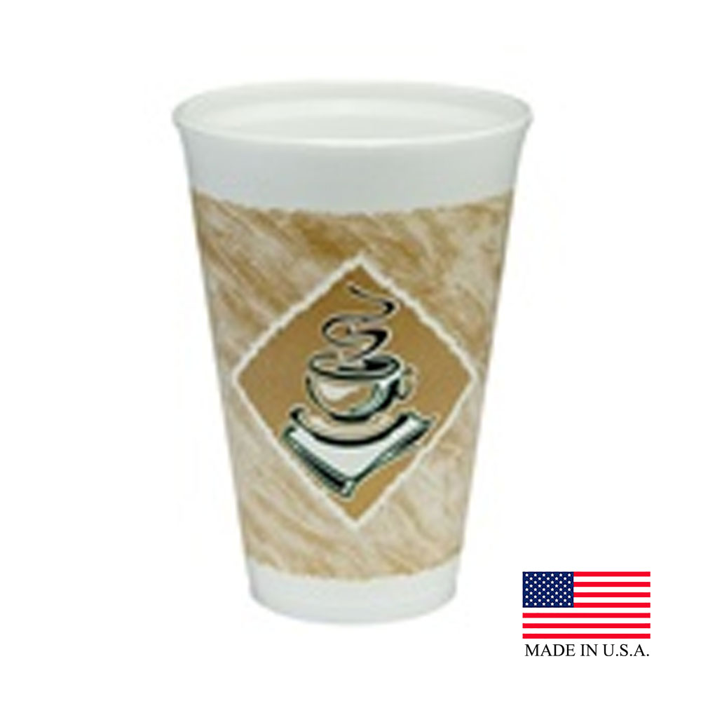 Dart 16oz Cafe G Foam Cup 16X16G