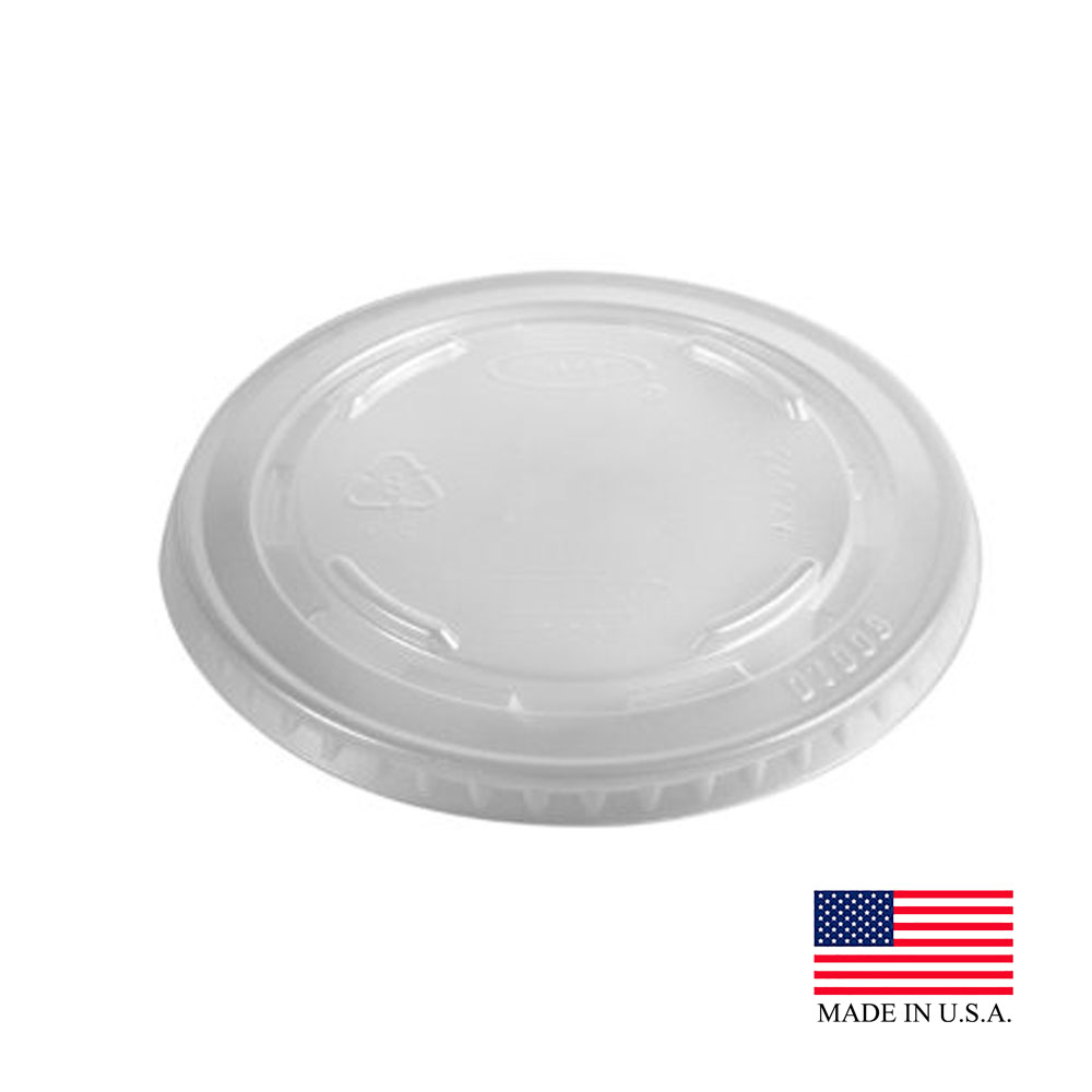 Dart Translucent Plastic Non-vented Lid For 5/7oz Cup L7N25