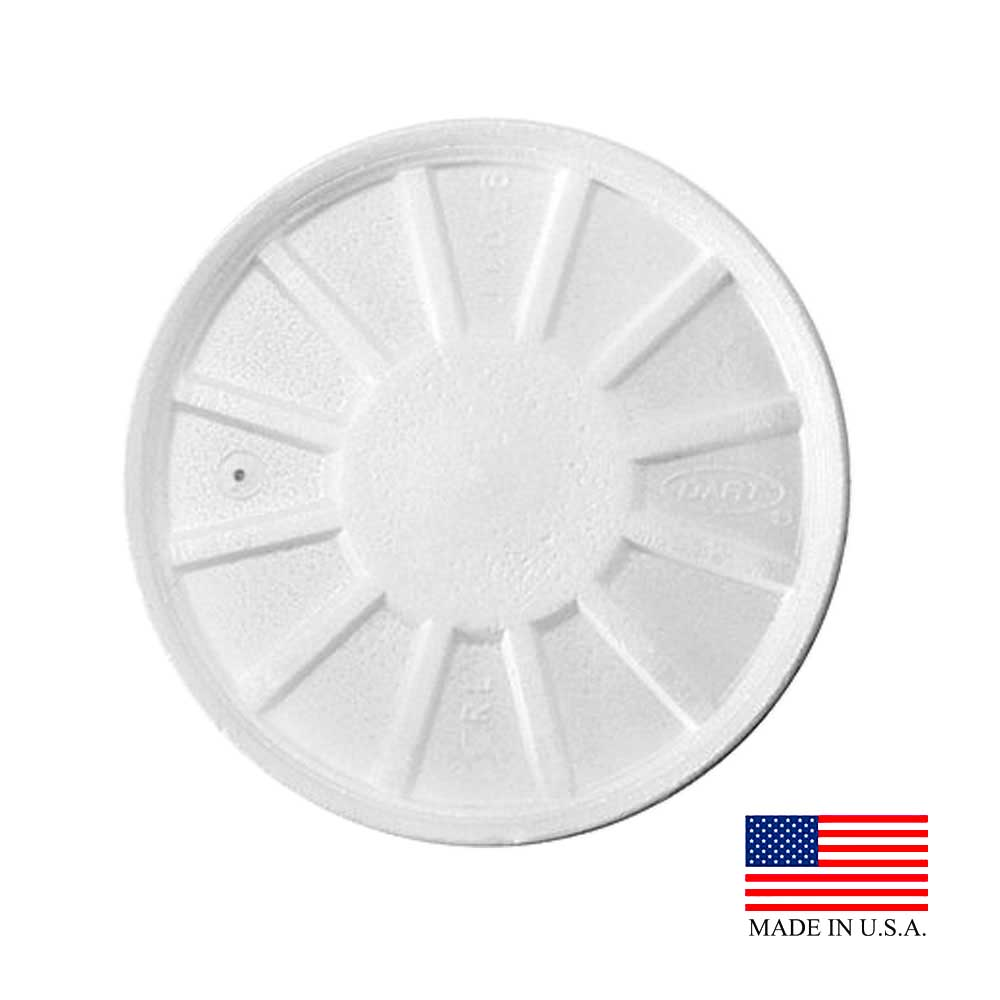 Dart White 5-16oz Vented Foam Lid 20RL