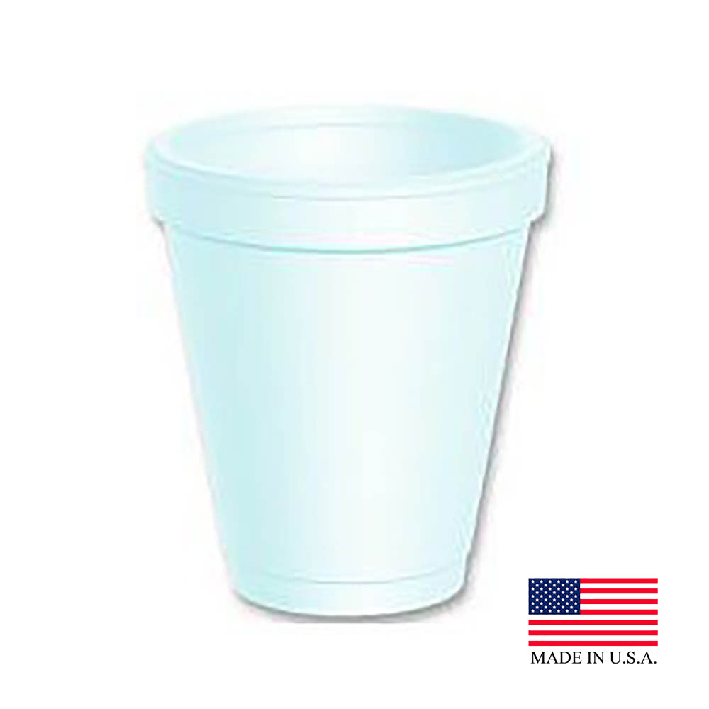 Dart - J Cup White 10 oz. Small Insulated Foam Cup10J122
