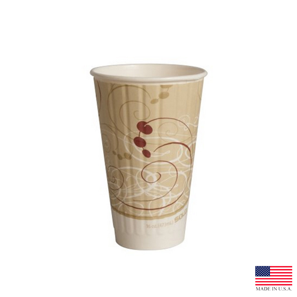 Solo Cup Printed 16oz Symphony Duo Shield Insulated Paper Hot Cup IC16-J8000