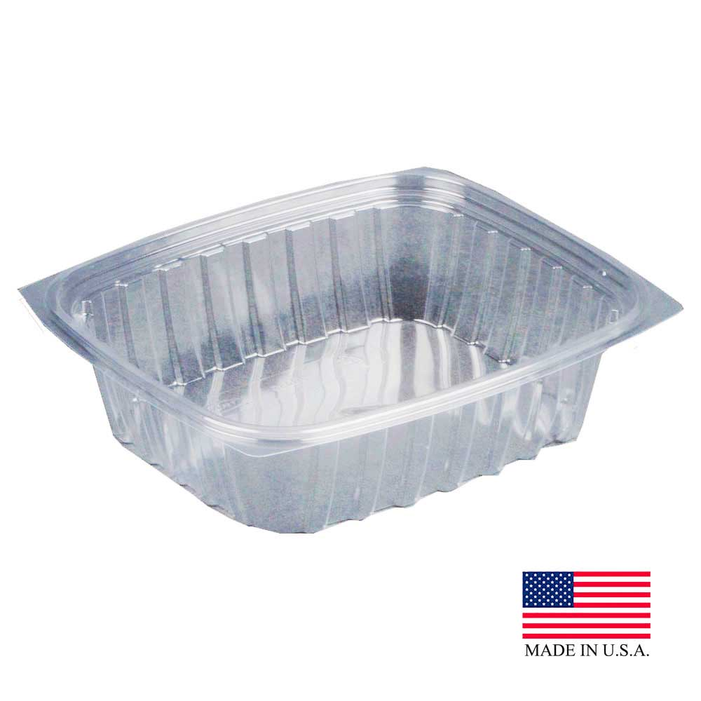 Dart - ClearPac Clear 24 oz. Rectangular Plastic Single Compartment Container C24DER