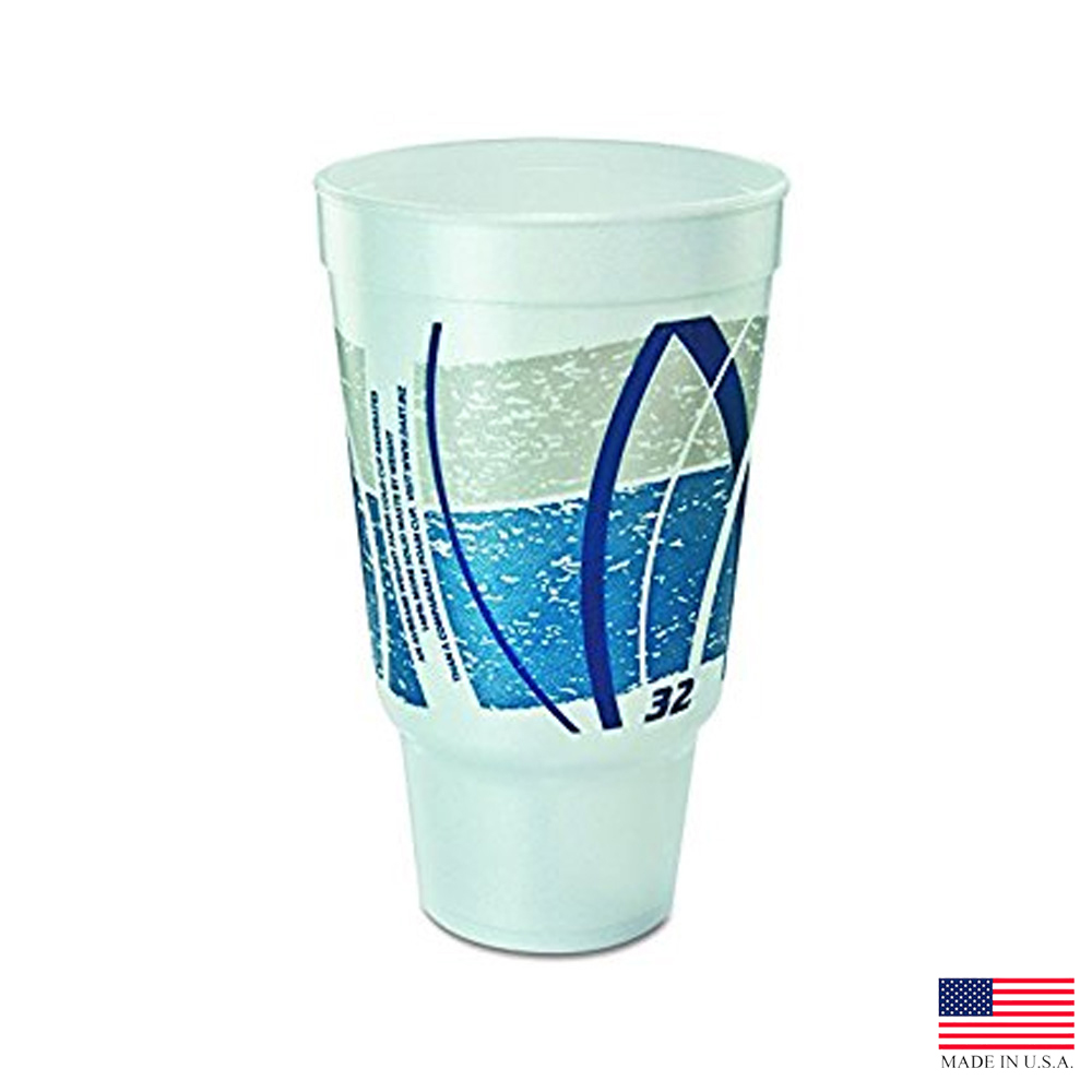 Dart Blue 32oz Impulse Pedestal Foam Cup 32AJ20E