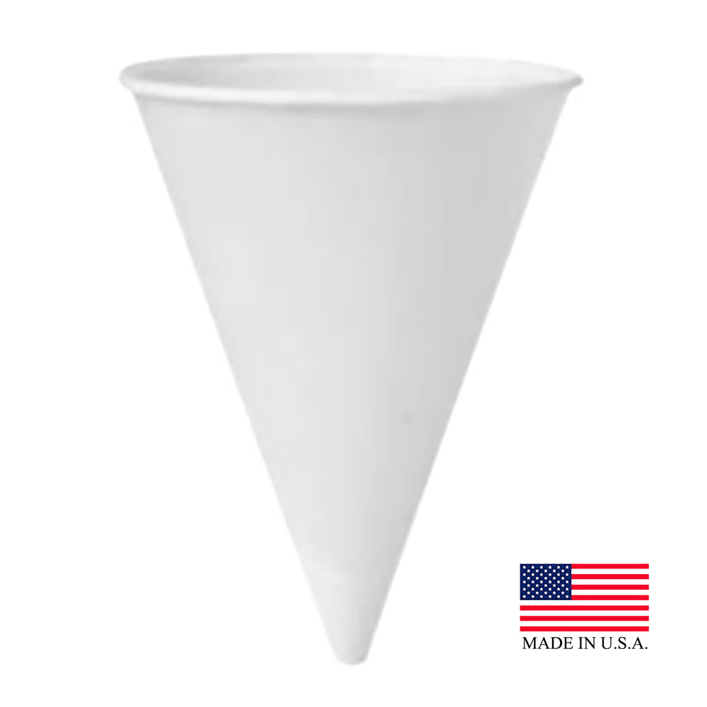 Solo White 6oz Eco Forward Cone Cup 6RB-2050