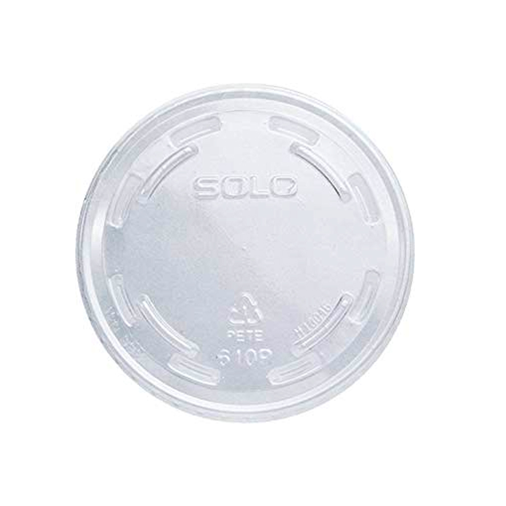 Dart - Clear Plastic 9-10 oz. No Vent Lid for TP9 & TP10 Cups 610TP