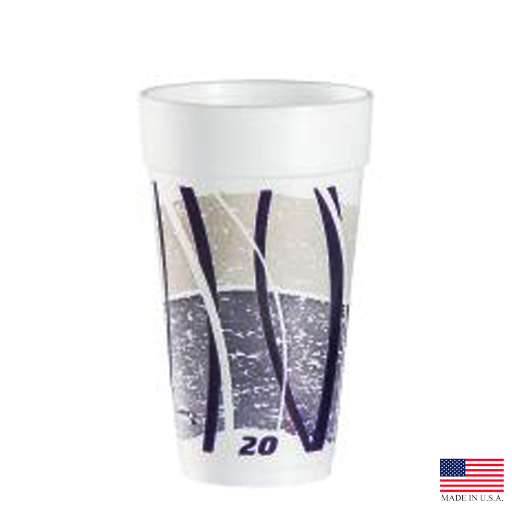 Dart Purple 20oz Impulse Foam Cup 20J16E