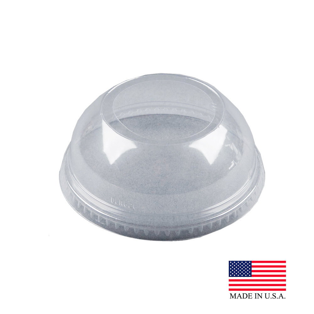 "Solo Cup Clear Dome Lid With 1.9"" Hole For Tp CupsDLW626"
