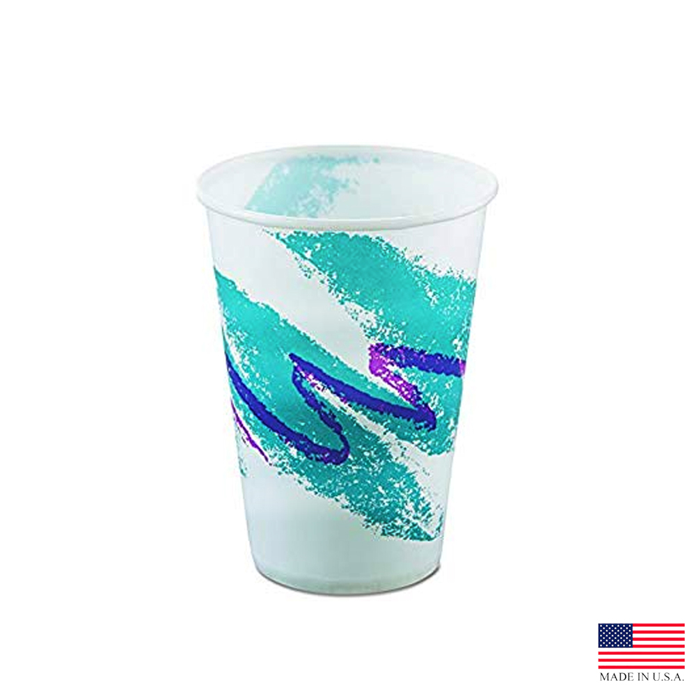 Solo Cup Printed 16oz Jazz Wax Treated Paper Cold Cup RW16-00055