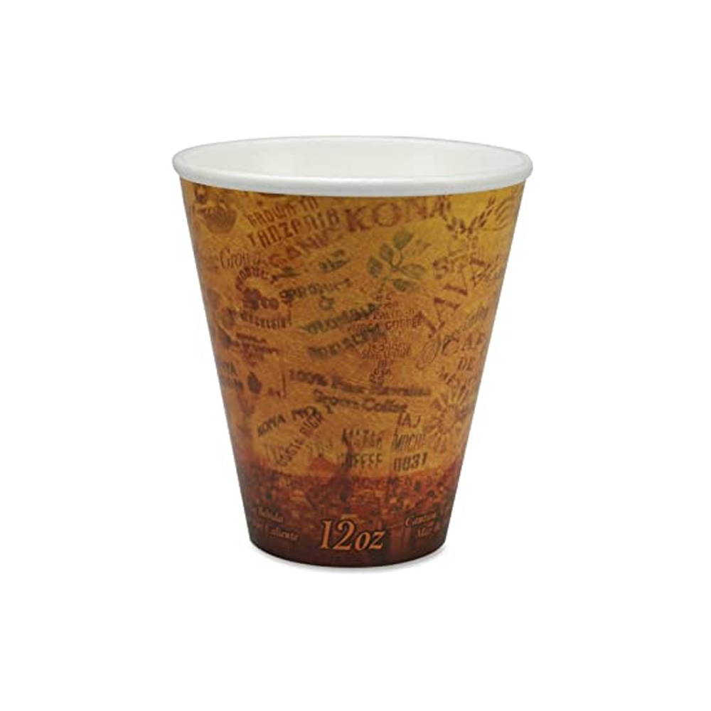 Dart 12oz Escape Stock Print Paper Hot Cup 12U16ESC