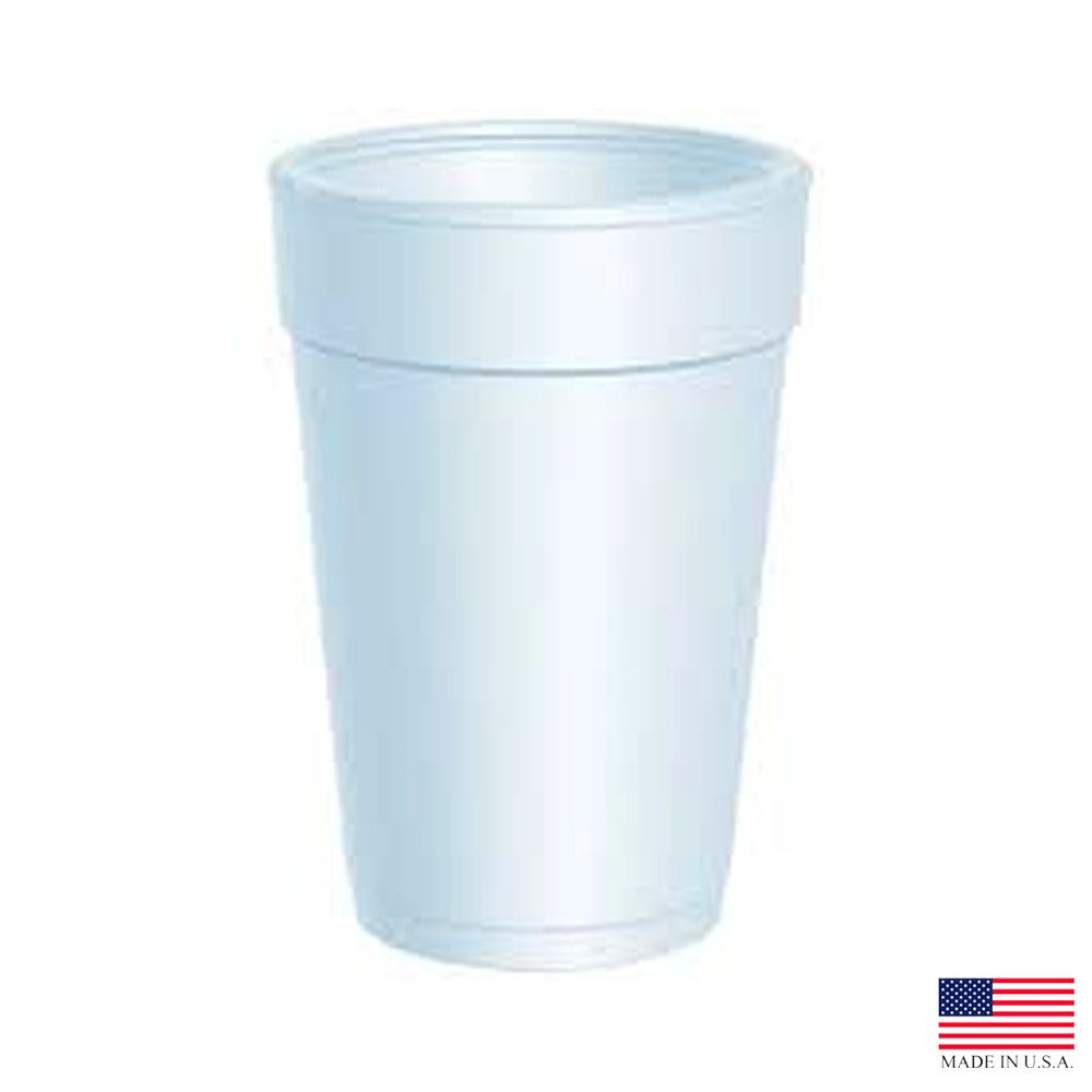 Dart - J Cup White 14 oz. Large Insulated Foam Cup14J12