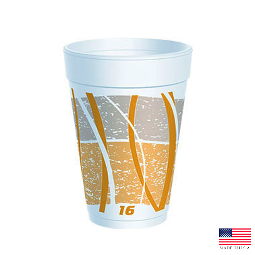Dart 16oz Orange Foam Impulse Cup 16J16E