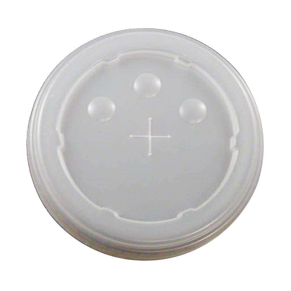 Dopaco - Tranclucent Slotted Lid with ID Buttons  for 32 oz. Cold Cups DFL32