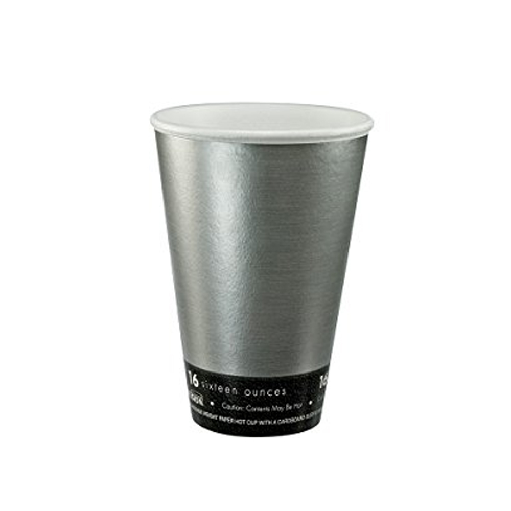 Dart Silver 16oz Steele Fusion Insulated Foam Hot Cup 16U16FS