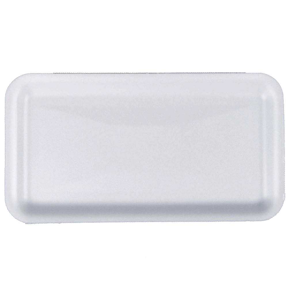 "Pactiv - White 12""x16"" Foam Supermarket Tray      0TF11216"