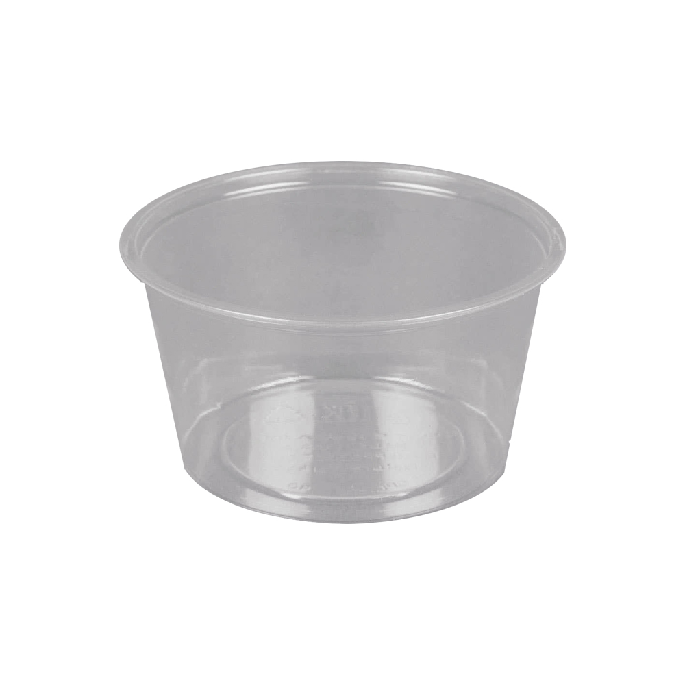 Fabrikal - Clear 4 oz. Compostable Plastic Souffle Portion Cup GPC400