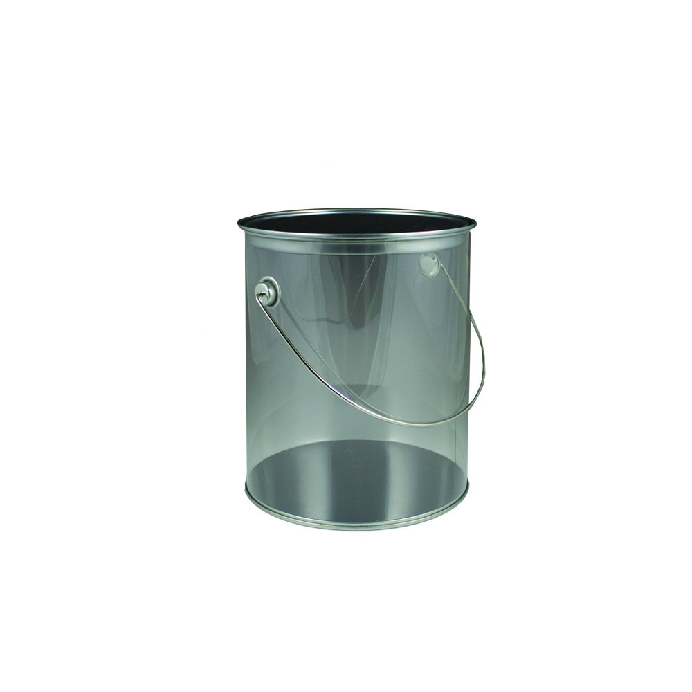 Maryland Plastics Inc. - Clear 12 oz. Plastic Paint Can MPI00966