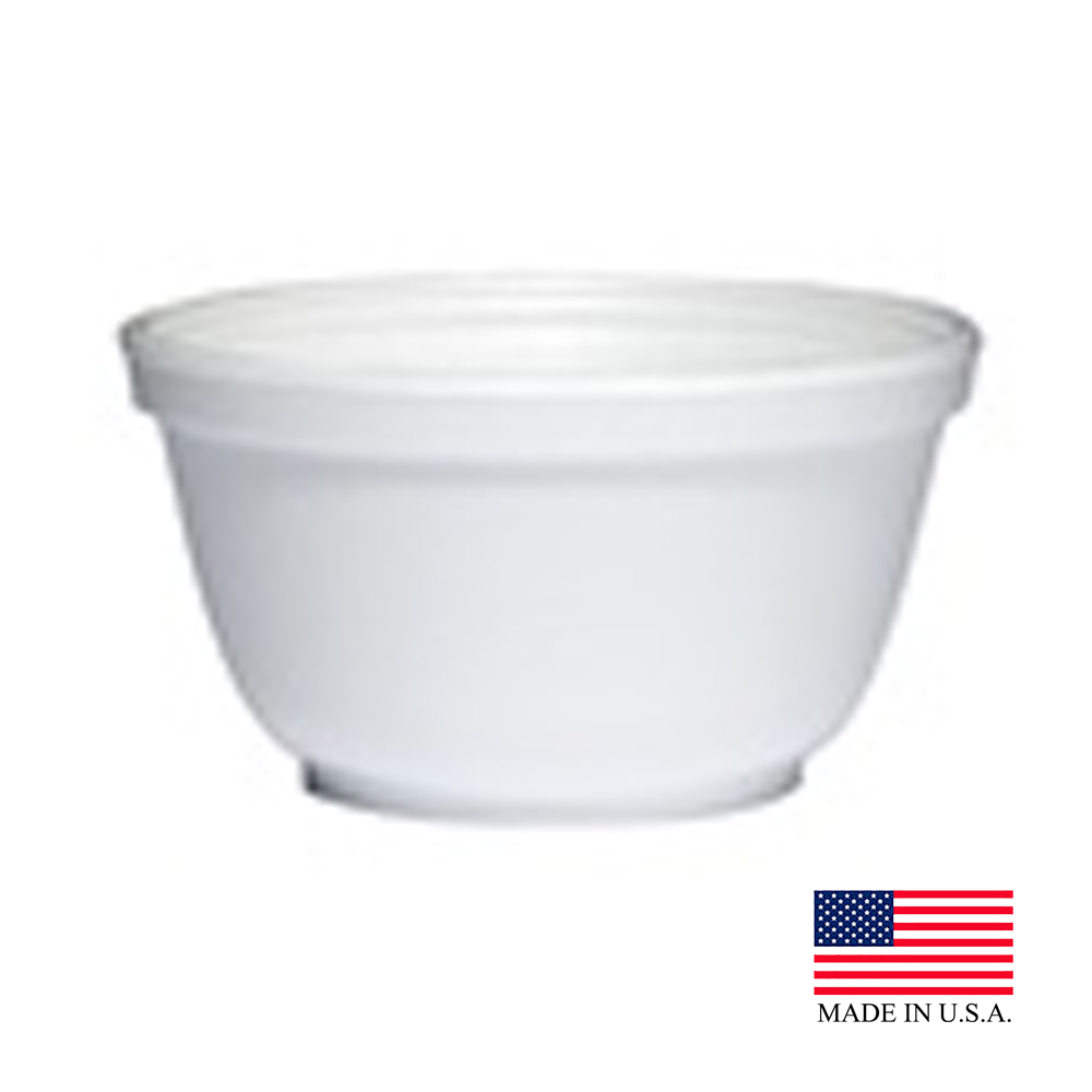 Dart White 10oz Foam Bowl 10B20