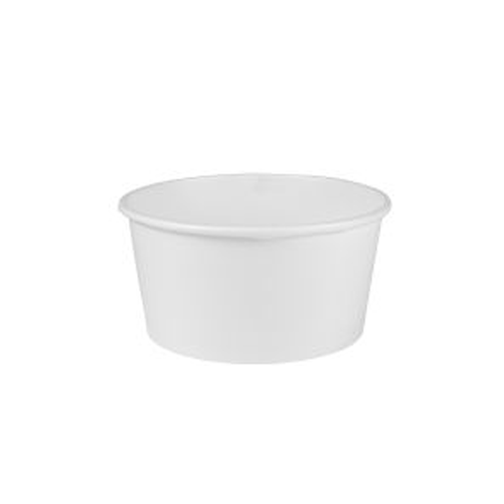 Solo Cup White 6oz Paper Food Containe VS506X-02050