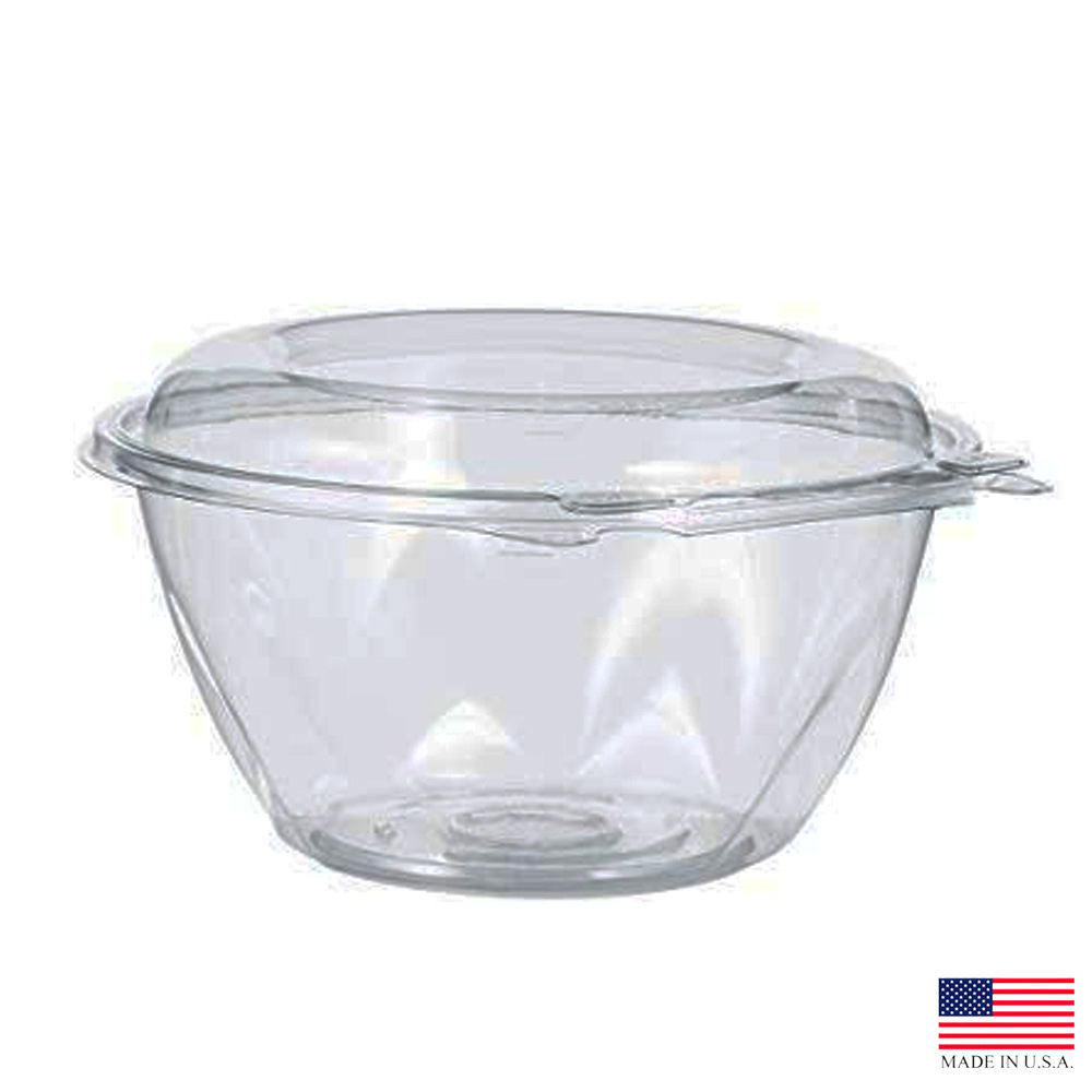 Dart - SafeSeal Clear 32 oz. Round Plastic Tamper-Resistant Bowl with Dome Lid CTR32BD