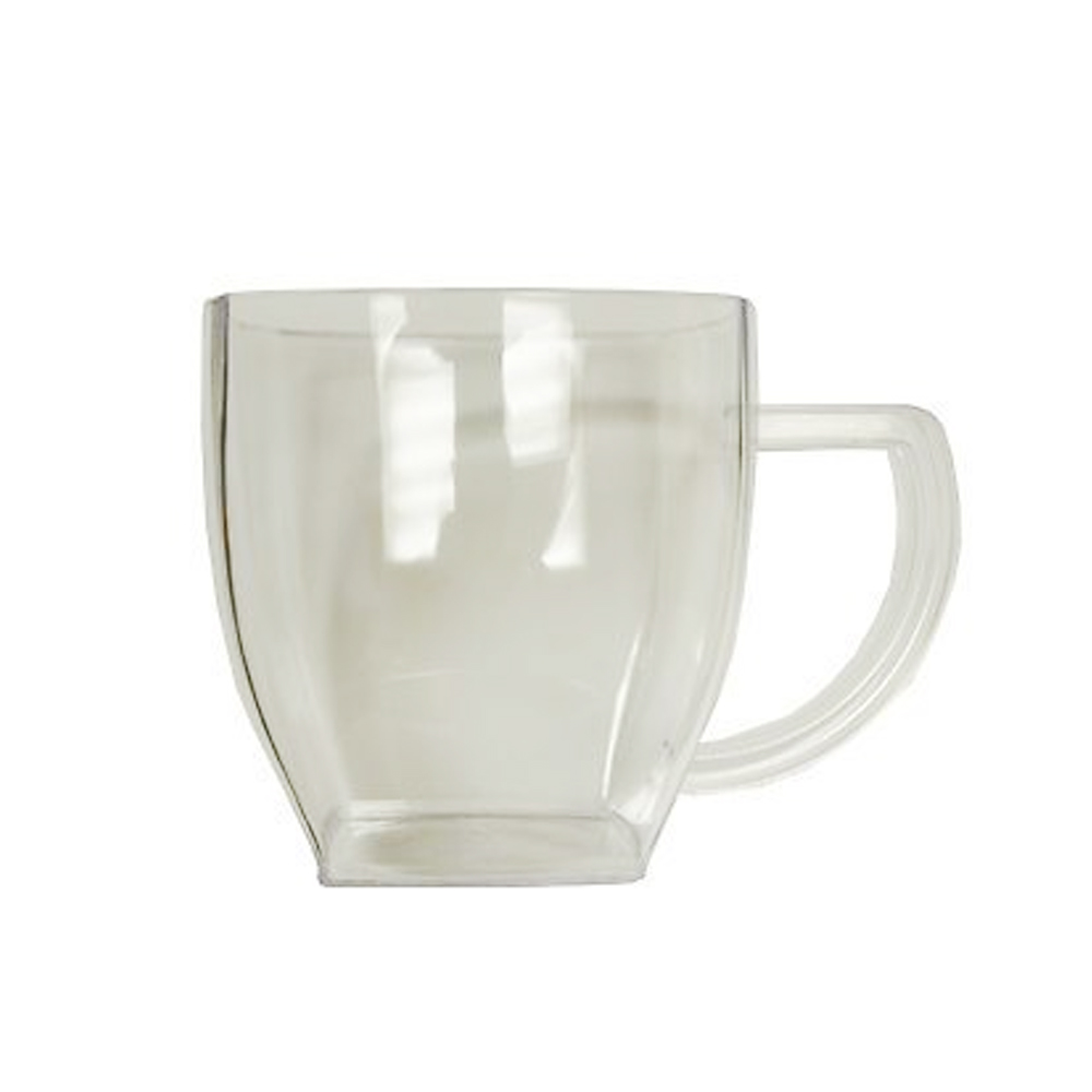 EMI Yoshi Clear 8oz Square Coffee Mug EMI-SM8CL
