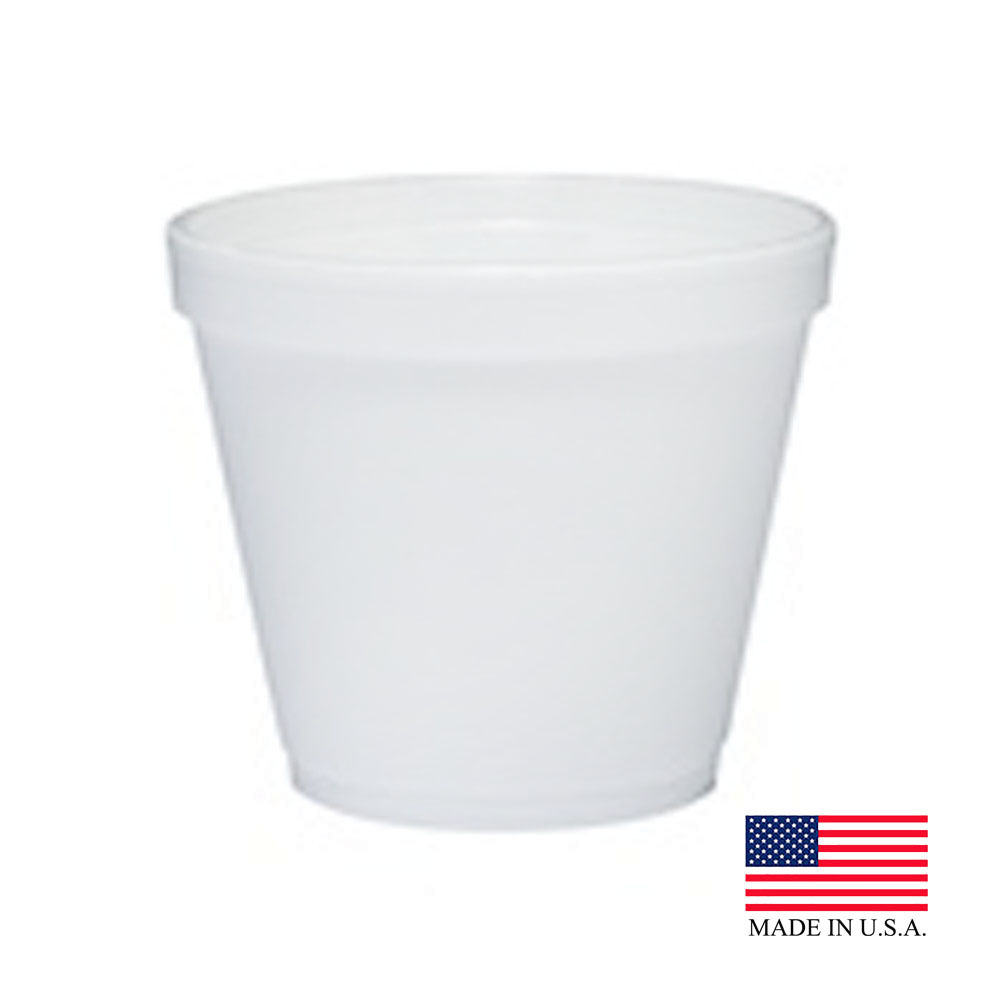 Dart White 8oz Foam Food Container 8SJ12