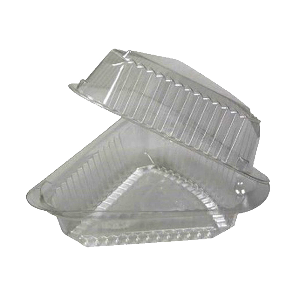 "Pactiv Clear 9"" Hinged Pie Wedge Container 0CI89019"