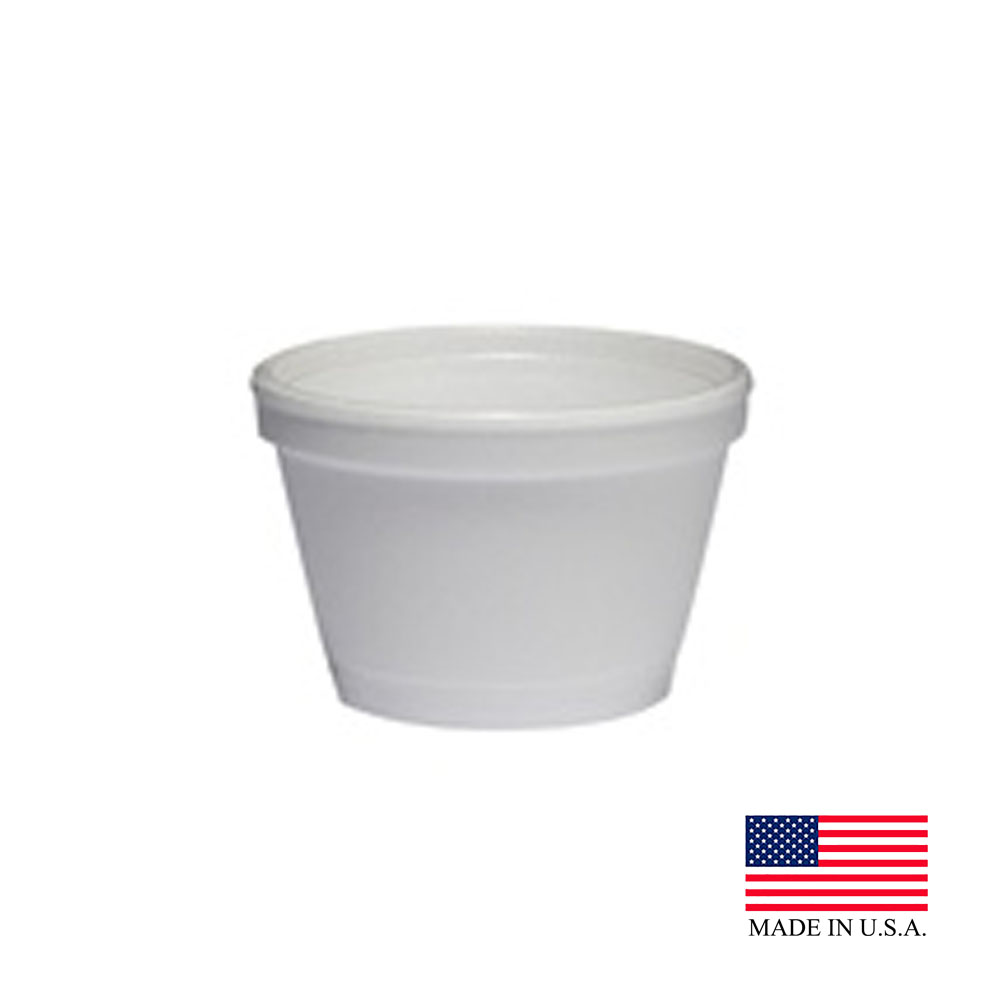 Dart - J Cup White 3.5 oz. Insulated Round Foam Container 3.5JS